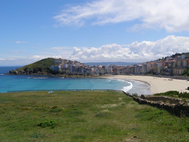 Spanien Galicia Malpica Costa da Morte Praia de Canido royaltyfri fotografi