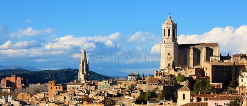 Spanien - Girona stockfotos