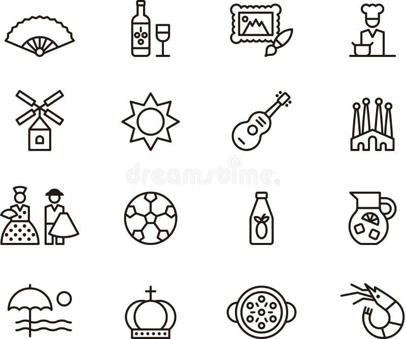 Spanien-Ikonen stock abbildung