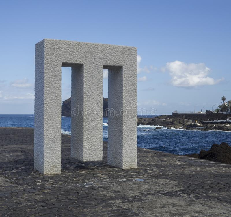 Spanien, Kanarische Inseln, Garachico am 19. Dezember 2017 Marmor-monum stockfotos