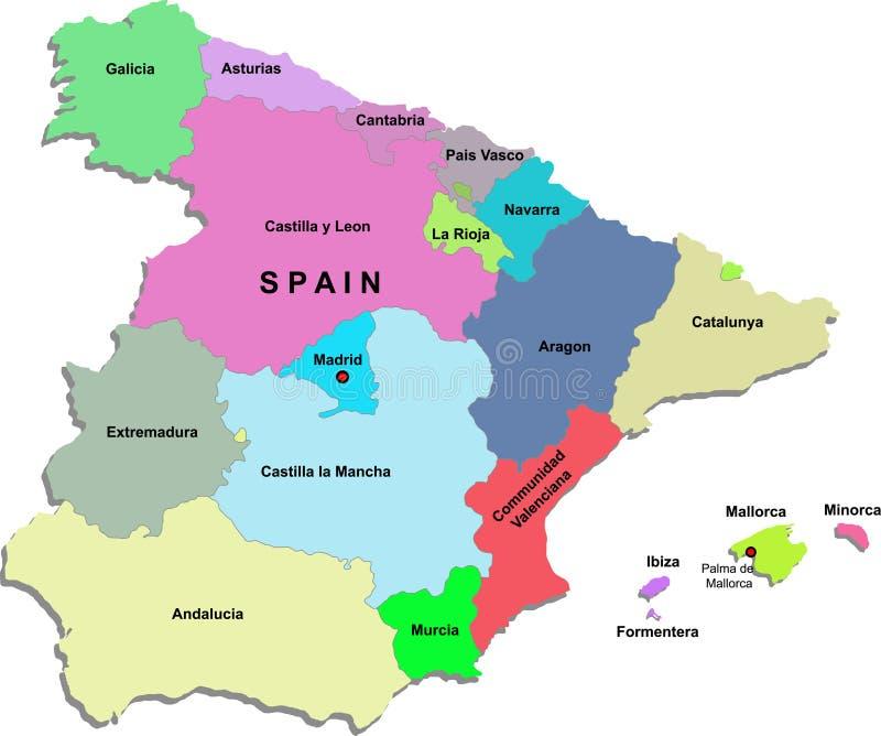 Spanien-Karte vektor abbildung
