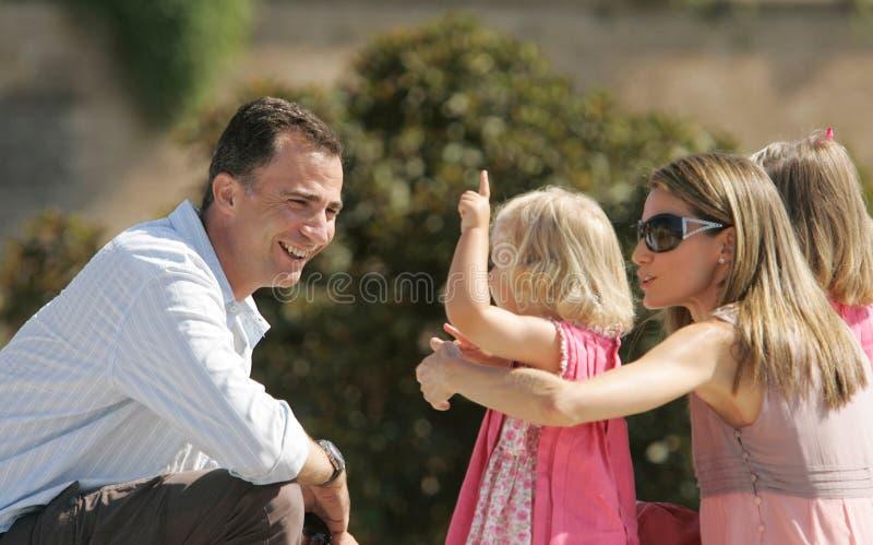 Spanien kungafamiljen fotografering för bildbyråer