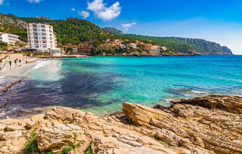 Spanien Majorca strandSant alm arkivfoto