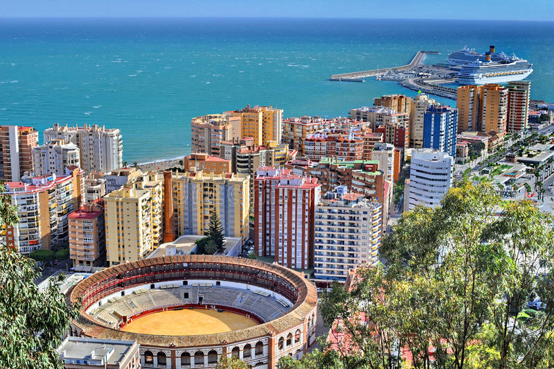 Spanien Malaga arkivfoton