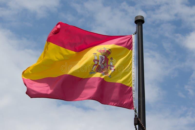 Spanien-Markierungsfahne stockfotos