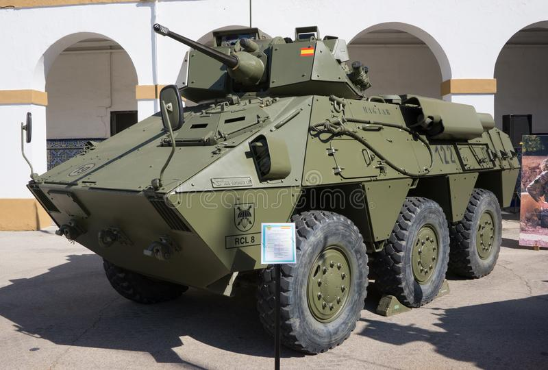 Spanien-Militärfahrzeug stockbilder