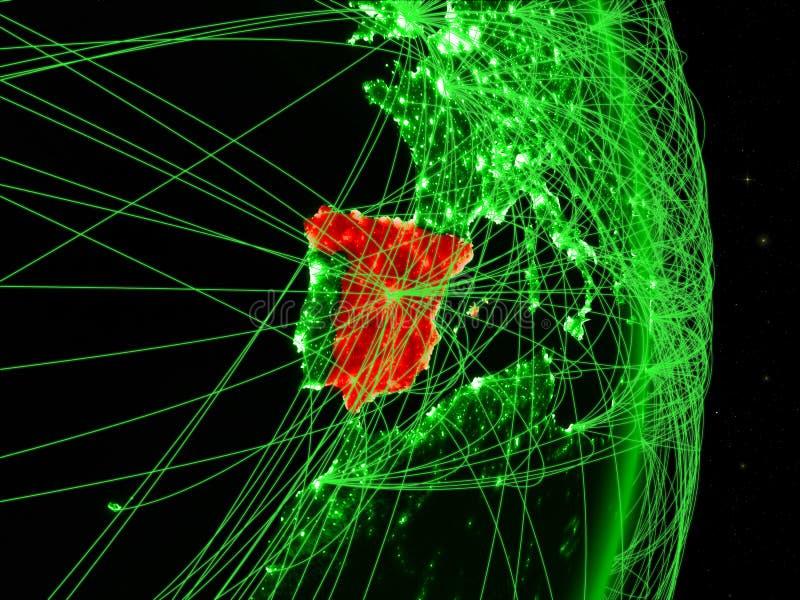 Spanien på grön jord royaltyfri bild