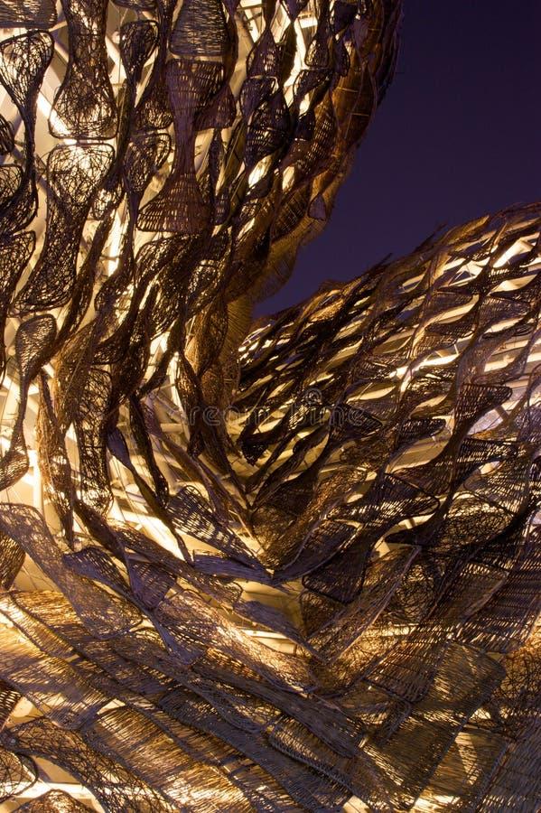 Spanien-Pavillion bis zum Night stockbilder