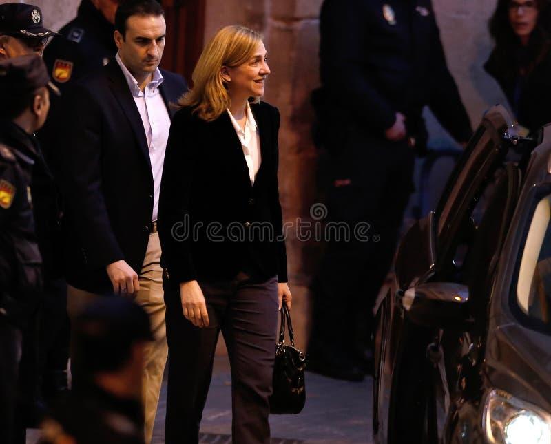 Spanien-Prinzessin Cristina, das Gericht 03 lässt stockfoto