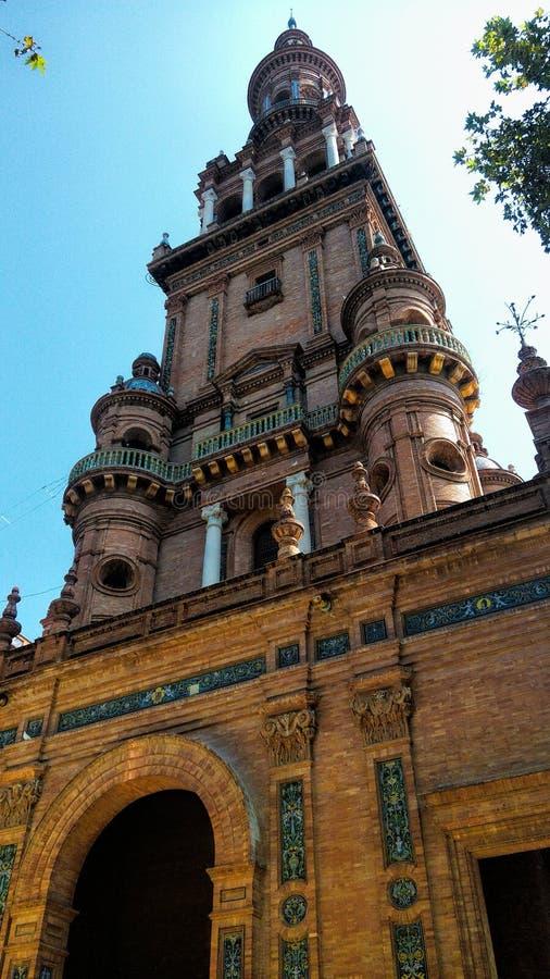 Spanien Seville PlazaEspana torn fotografering för bildbyråer