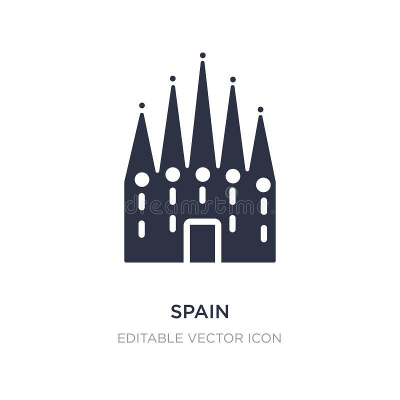 Spanien symbol på vit bakgrund Enkel beståndsdelillustration från monumentbegrepp royaltyfri illustrationer