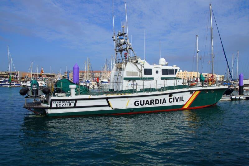 Spanisch Guardia-Zivilseeküstenpatrouillenschiff lizenzfreie stockbilder
