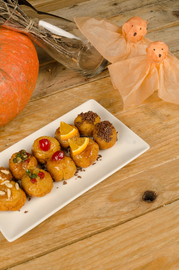 Spanisch-Halloween-Kekse stockbild