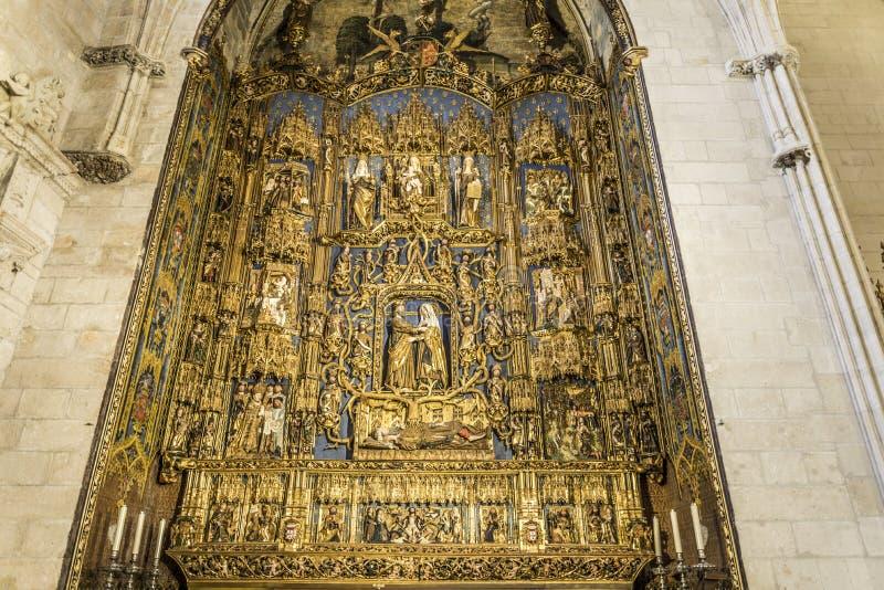 Spanisch-Markstein Burgos Cathedral lizenzfreies stockbild