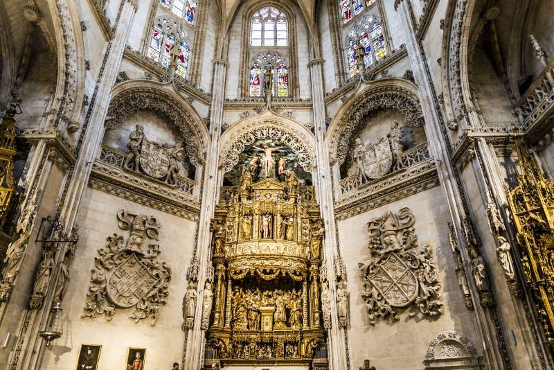Spanisch-Markstein Burgos Cathedral stockfotografie