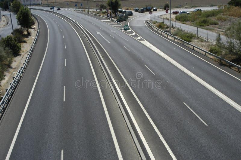 Spanische Autobahn stockfoto