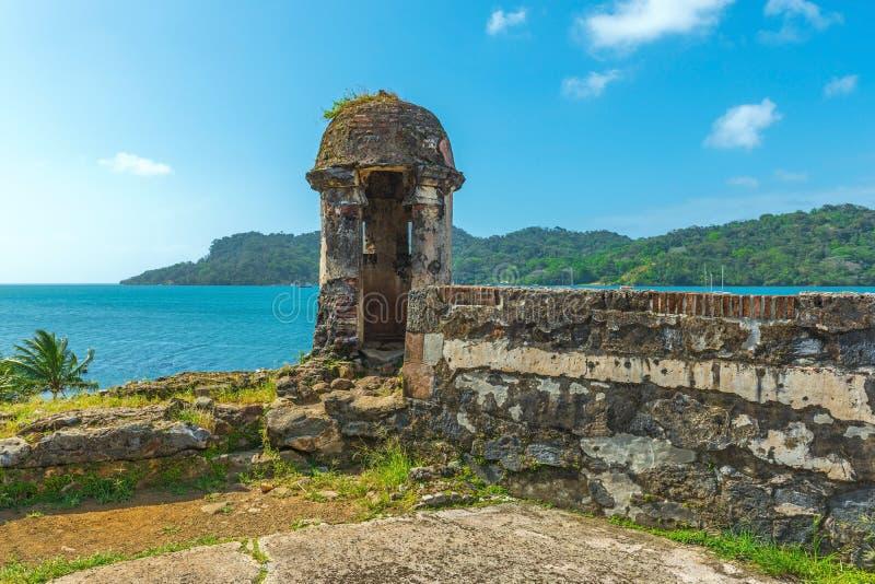 Spanische Festung in Portobelo, Panama lizenzfreies stockfoto