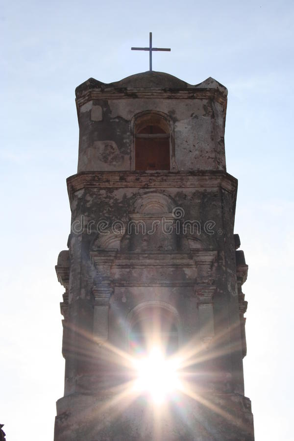 Spanische Kirche in Kuba lizenzfreie stockfotos