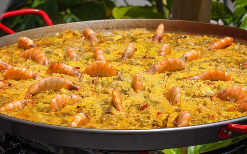 Spanische Paella stockfotos