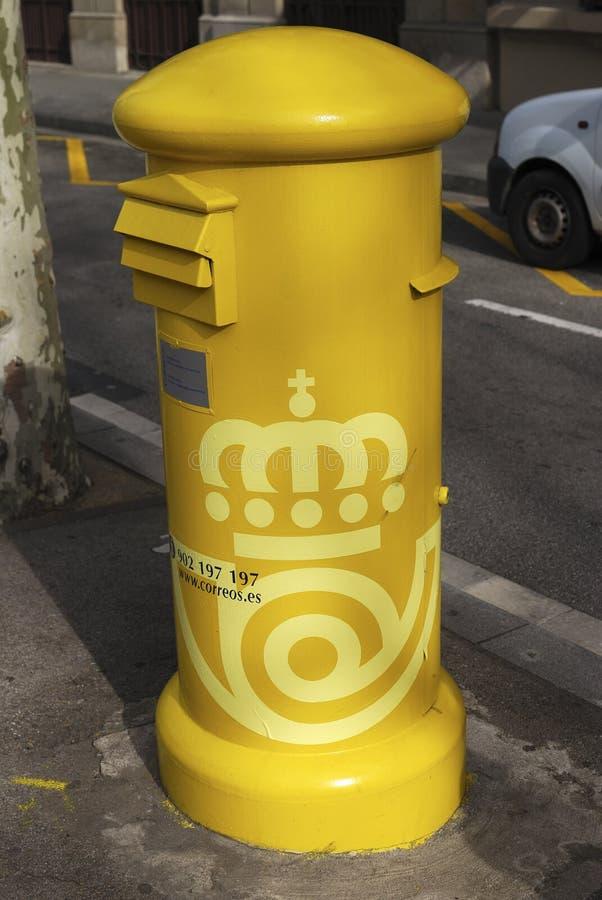 Spanische Post/Briefkasten stockfotos