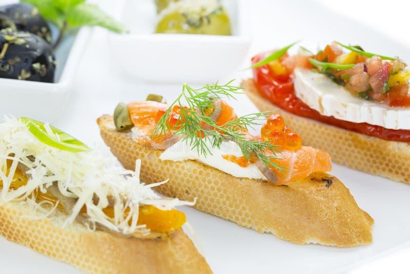 Spanische Sandwiche stockbild