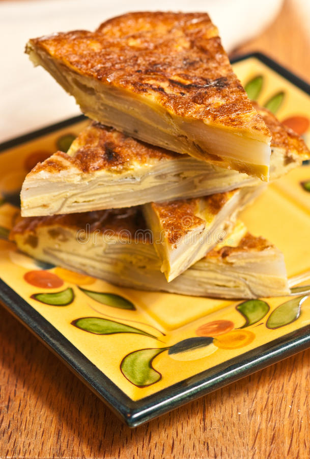 Spanische Tortilla stockfotografie