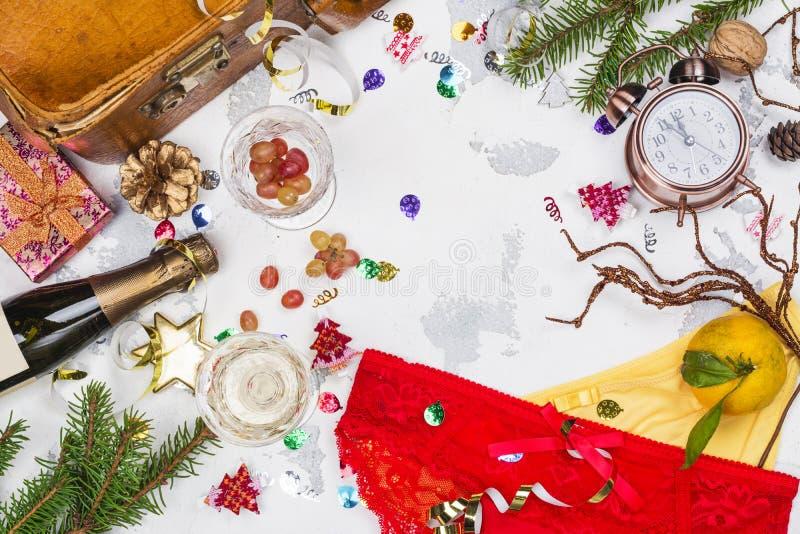 Spanische Traditionen des neuen Jahres lizenzfreies stockbild