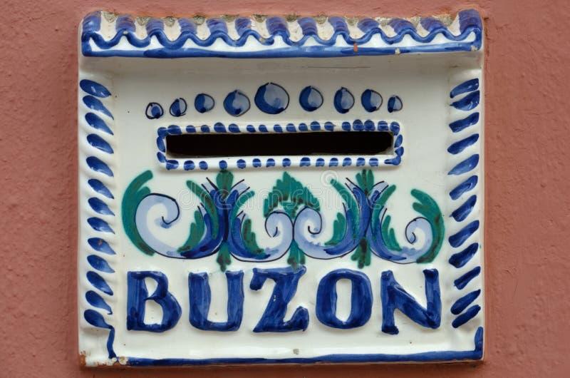 Spanischer Briefkasten - Buzon lizenzfreie stockbilder