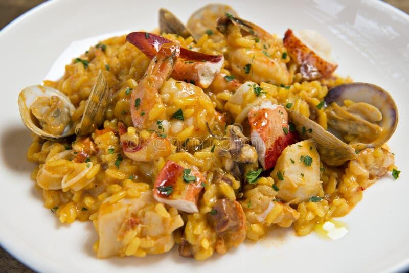 Spanischer Meeresfrüchte Risotto lizenzfreies stockbild