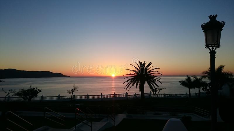 Spanischer Sonnenuntergang stockfotos