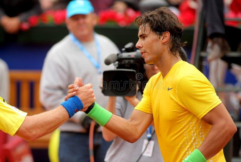 Spanischer Tennisspieler Rafael Nadal lizenzfreies stockbild