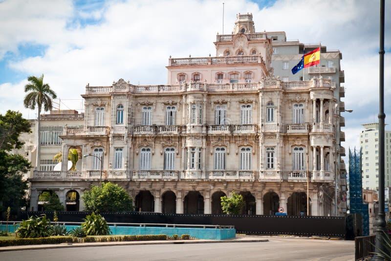 Spanisches Botschaftsgebäude in altem Havana stockfotografie