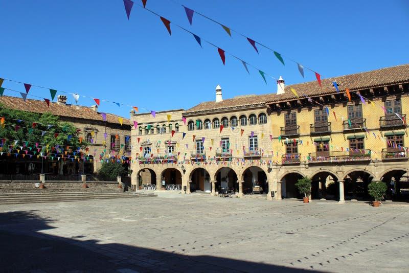 Spanisches Dorf-Panorama stockfotografie