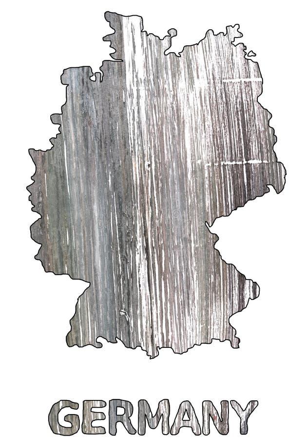 Spanisches graues Aquarell des Deutschland-Kartenentwurfs stock abbildung