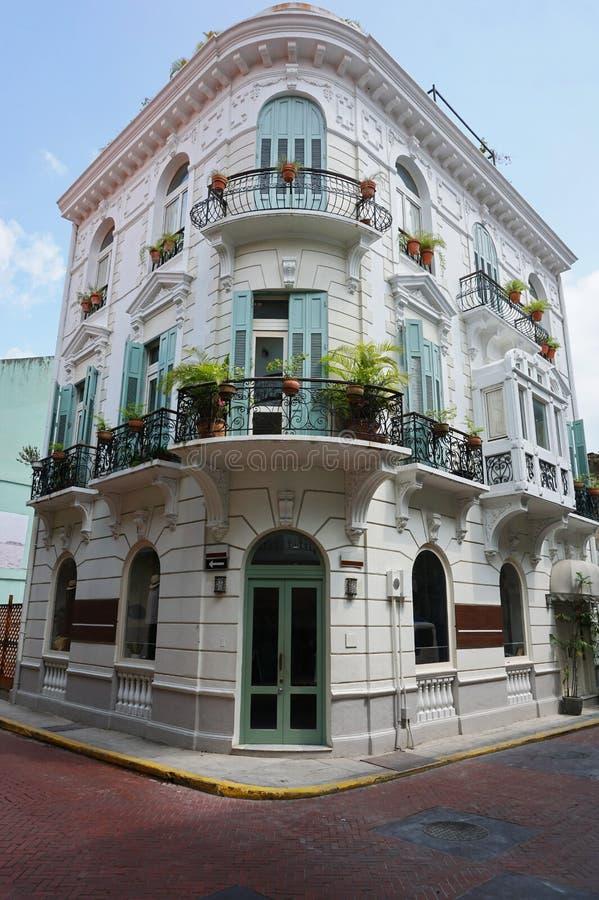 Spanisches Kolonialhaus Casco Antiguo Panama-Stadt lizenzfreies stockbild