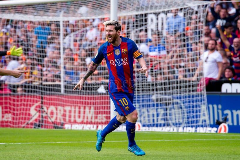 Spanisches La Liga: FC Barcelona des Valencia CF-V lizenzfreie stockbilder