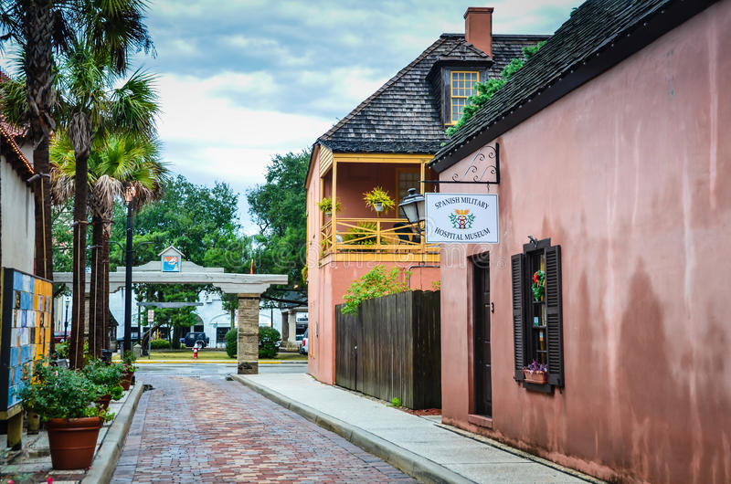 Spanisches Militärkrankenhaus-Museum - St Augustine, Florida stockfotos