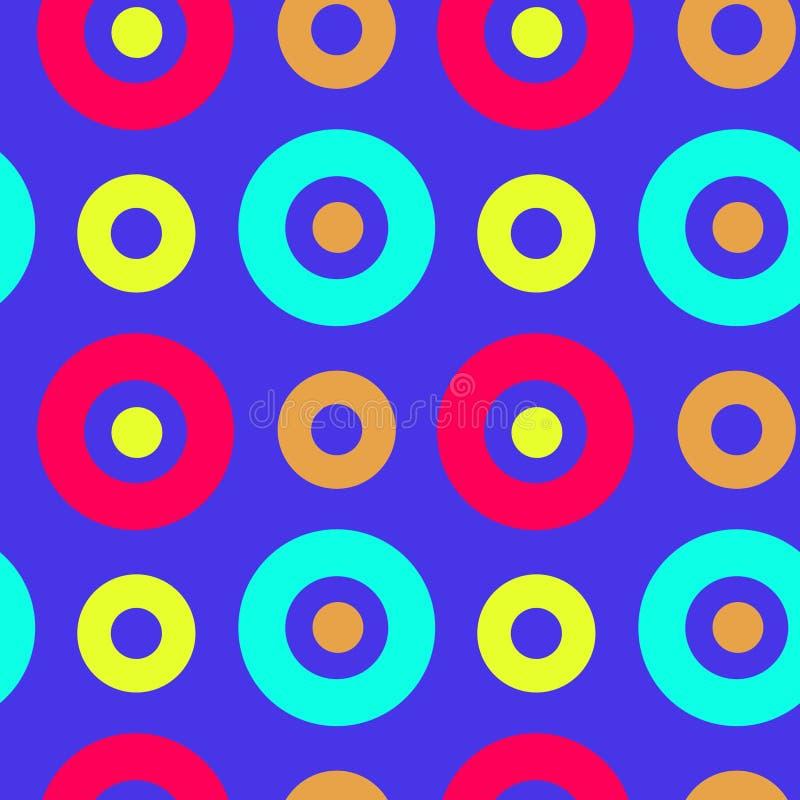 Download Spanisches Nahtloses Muster Der Klaren Kreise Vektor Abbildung - Illustration von farbe, modern: 106803956