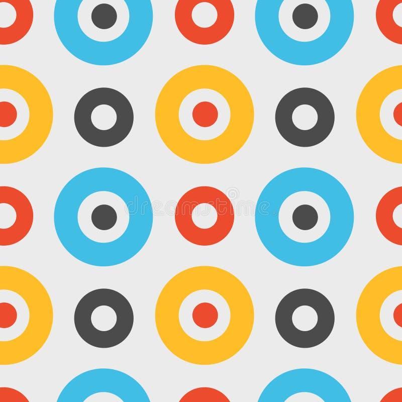 Download Spanisches Nahtloses Muster Der Klaren Kreise Vektor Abbildung - Illustration von dekoration, retro: 106804013