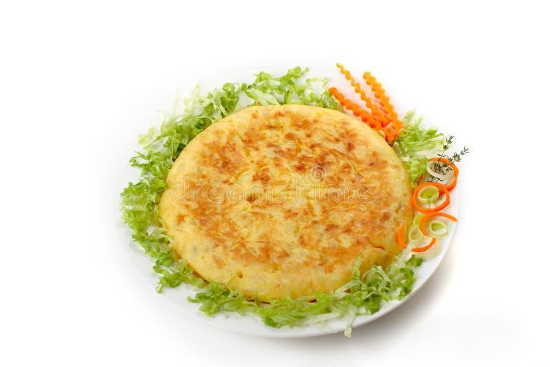 Spanisches Omelett 03 stockfotografie