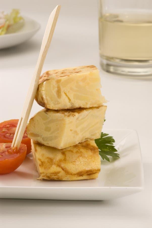 Spanisches Omelett stockfotografie
