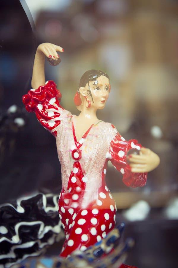 Spanisches Tänzerstandardmannequin stockfotos