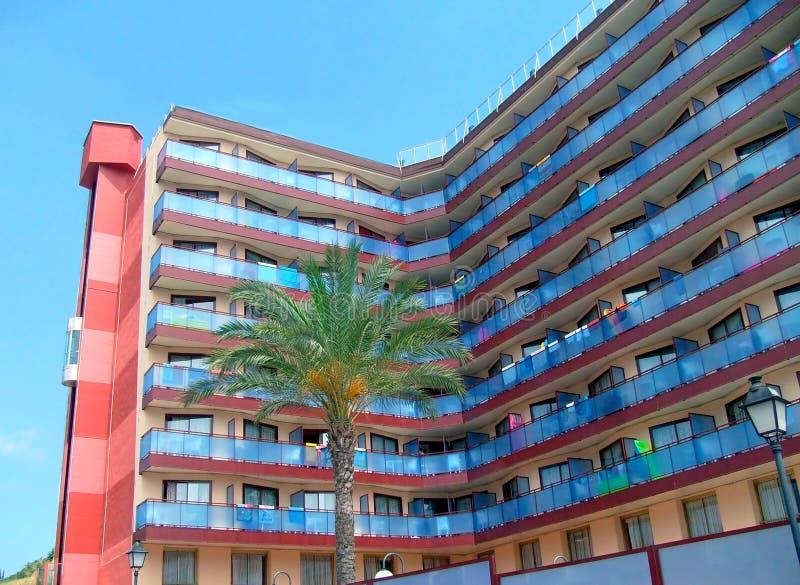 Spanisches touristisches Hotel stockfoto