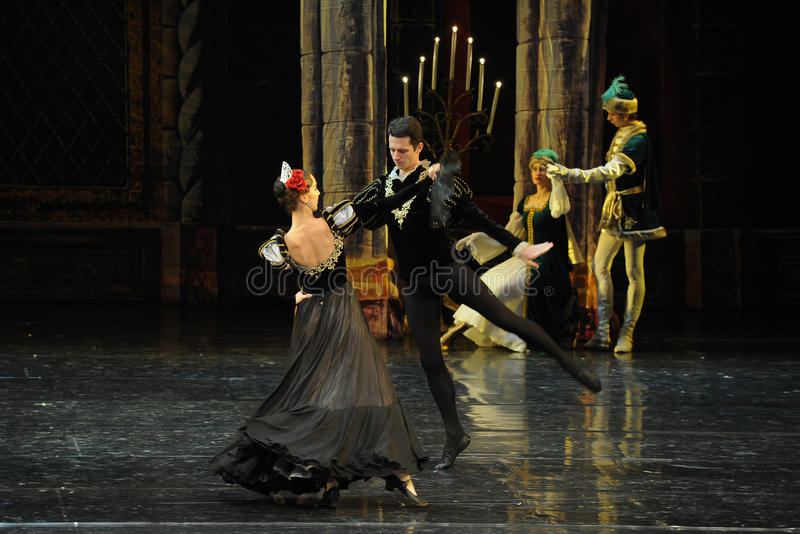 The Spanish ambassador-The prince adult ceremony-ballet Swan Lake stock image
