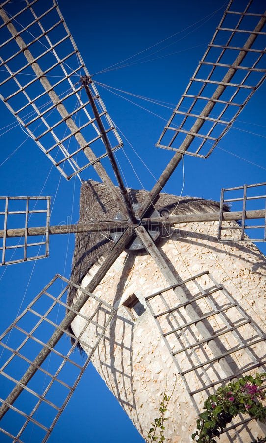 Download Spanish ancient windmill stock photo. Image of colours - 3827008