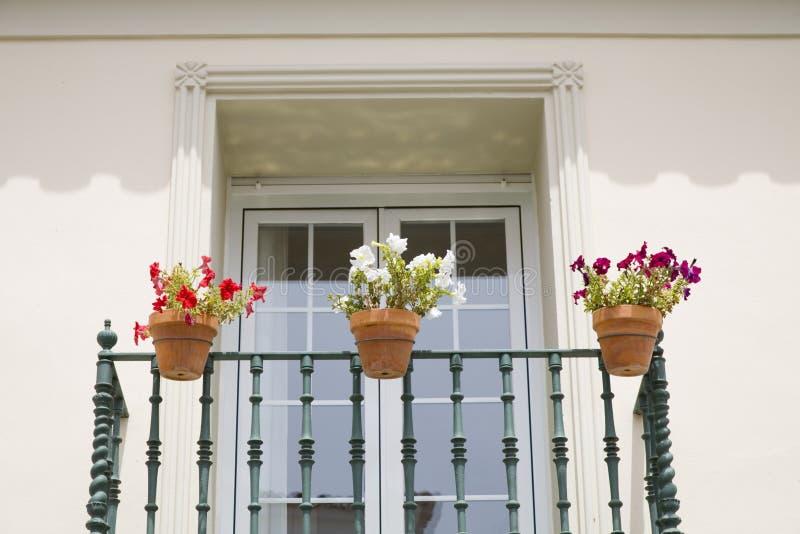 Spanish balcony royalty free stock photos