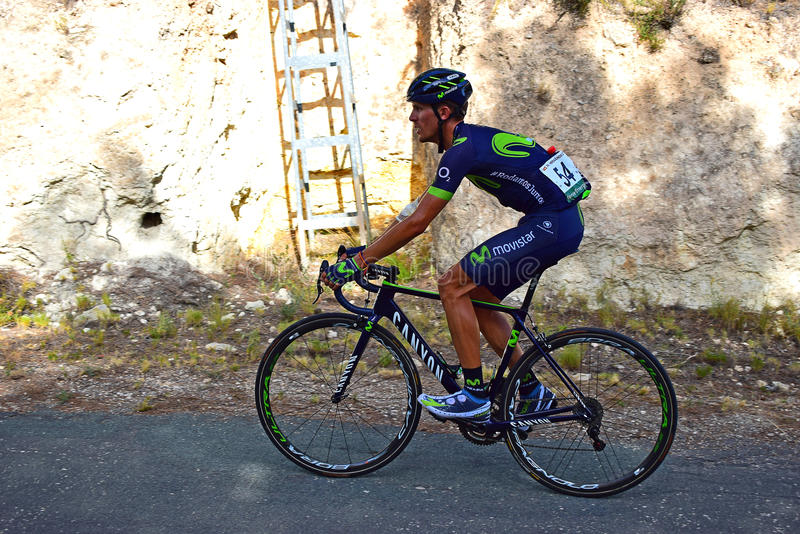 Andujar Fernandez Team Movistar La Vuelta España stock photography