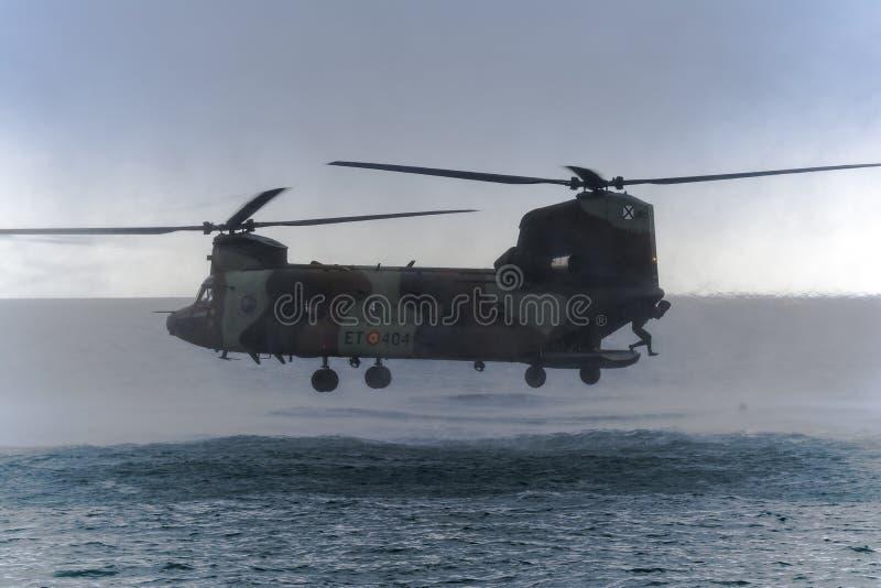 Spanish Boeing Chinook ARMY stock photo