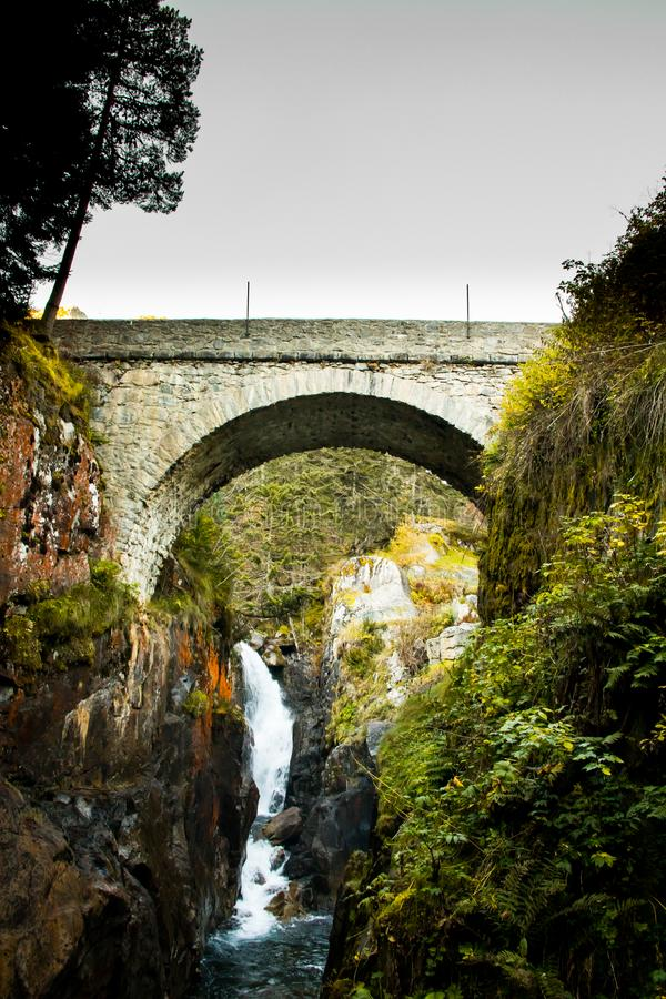 Spanish Bridge in Cauterets Pyrenees Frances royalty free stock photo