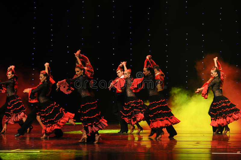 The Spanish bullfight dance-the Austria's world Dance royalty free stock image